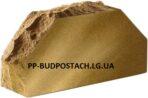 Кирпич «Скала» угловой 2-х Желтый тычковой «Литос»