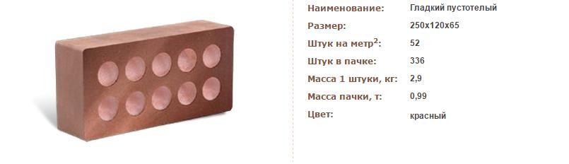 Кирпич литос Бордо пустотелый