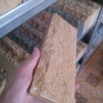 Цокольная плитка Слоновая Кость. Дом фундамент