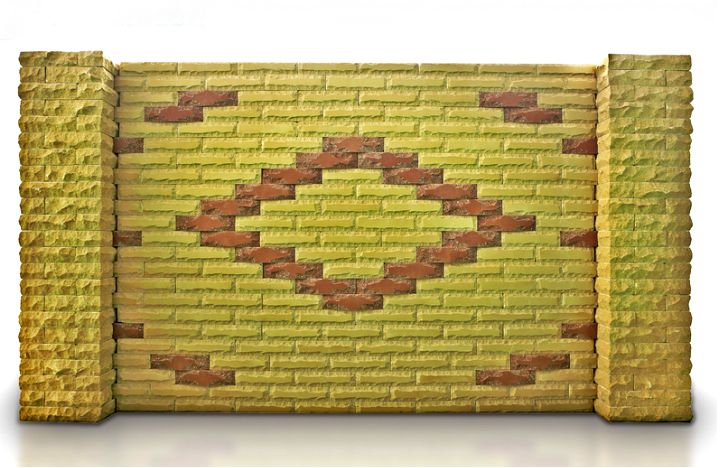 забор из кирпича (Скала, звезда, Луч)