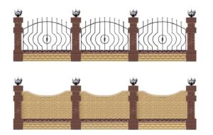 забор из кирпича литос Харьков