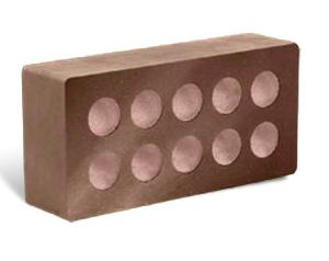 Кирпич литос шоколад пустотелый